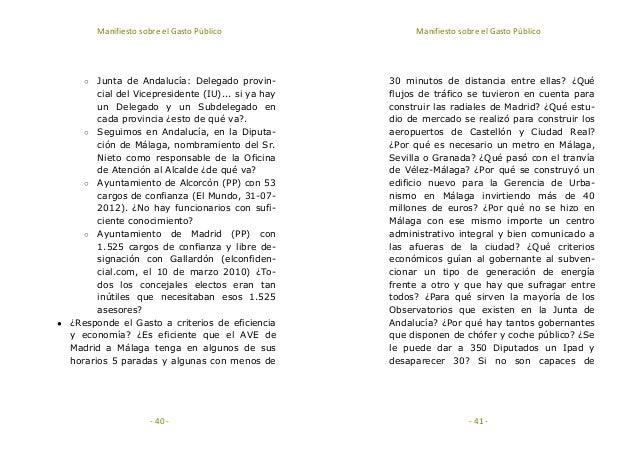 Manifiesto sobre el gasto p blico for Oficina de trafico malaga