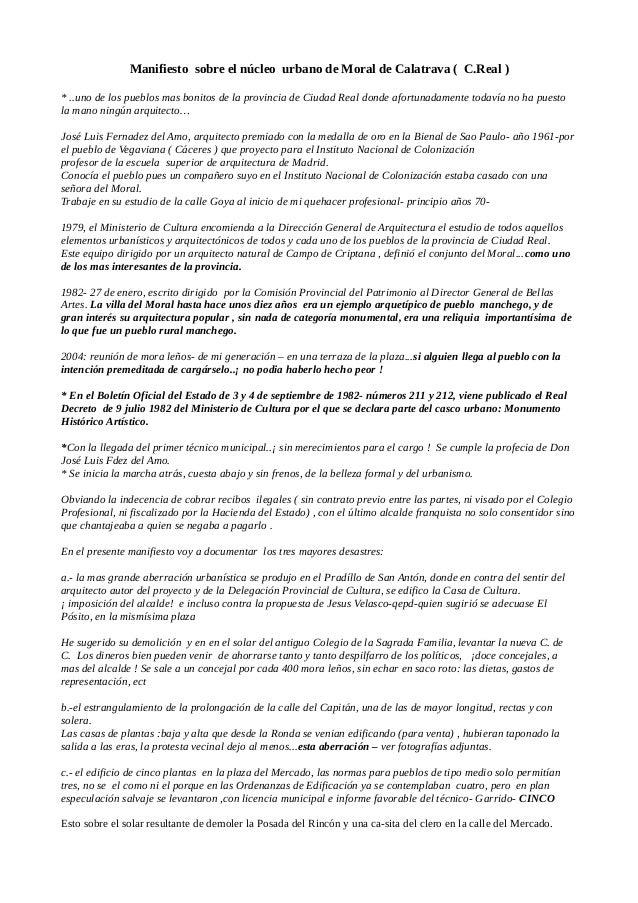 Manifiesto sobre el núcleo urbano de Moral de Calatrava ( C.Real ) * ..uno de los pueblos mas bonitos de la provincia de C...