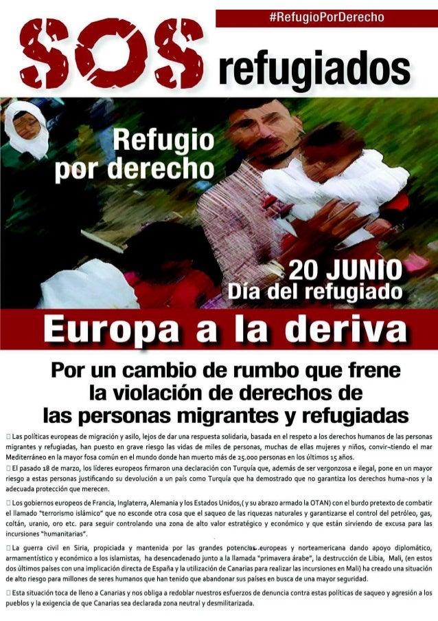 #RefugioPorDerecho Este acuerdo vulnera la Carta Internacional de Derechos Huma- nos, la Carta de Derechos Fundamentales d...