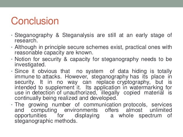 Phd thesis steganography