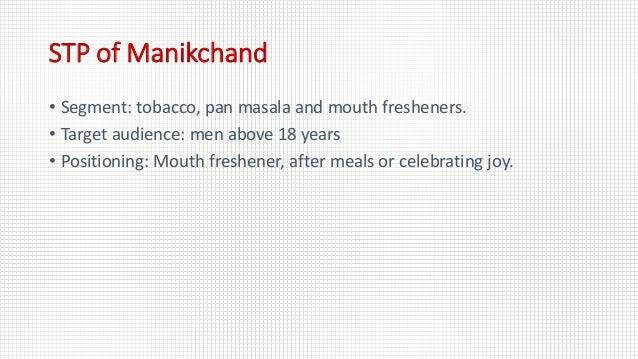 Brand Analysis - Manikchand