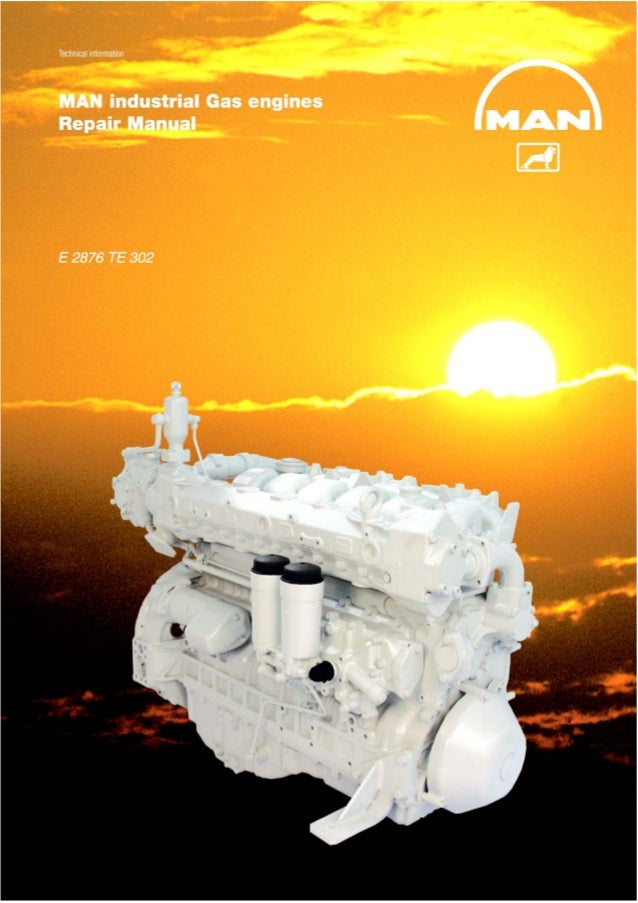 Man Industrial Gas Engine E 2876 Te 302 Service Repair Manual