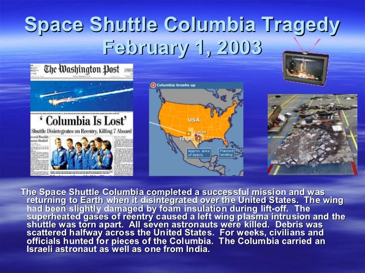 space shuttle columbia timeline - photo #13