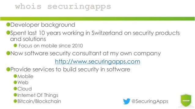 whois securingapps Developer background Spent last 10 years working in Switzerland on security products and solutions Focu...