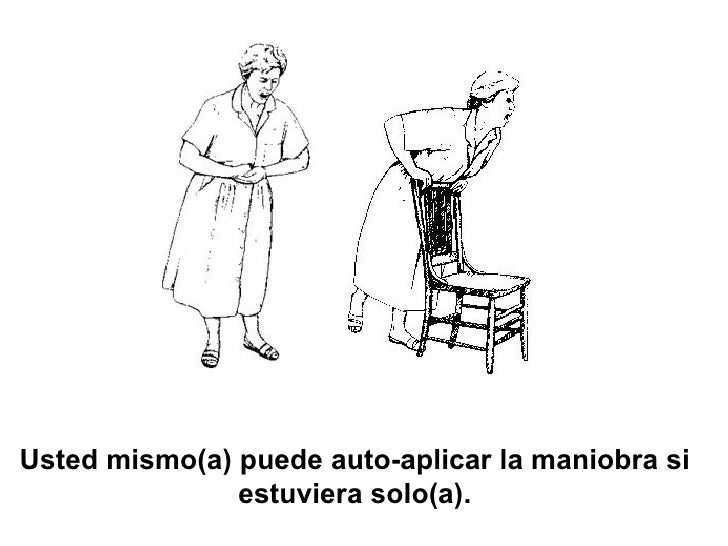 Usted mismo(a) puede auto-aplicar la maniobra si estuviera solo(a).