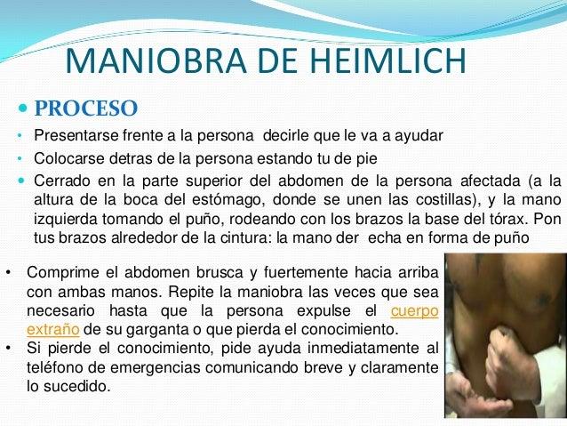 COMO REALIZAR LA MANIOBRA DE HEIMLICH?