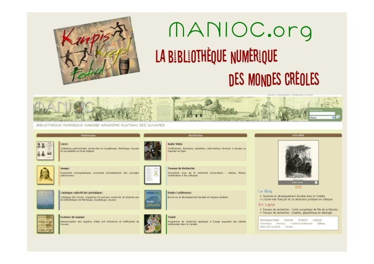 MANIOC.orgla bibliothèque numérique                des mondes créoles