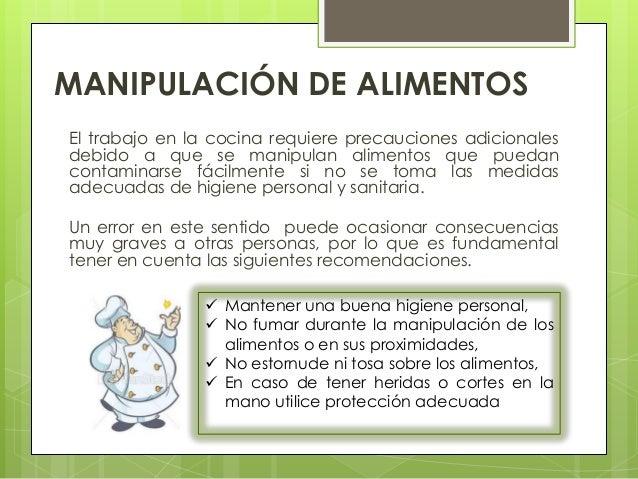 Manipulaci n de alimentos for La cocina de los alimentos pdf
