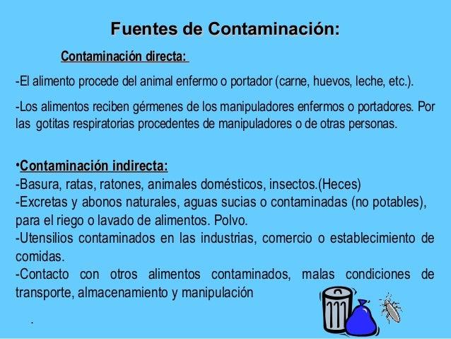 Manipulacion alimento salud publica - Fuentes de contaminacion de los alimentos ...