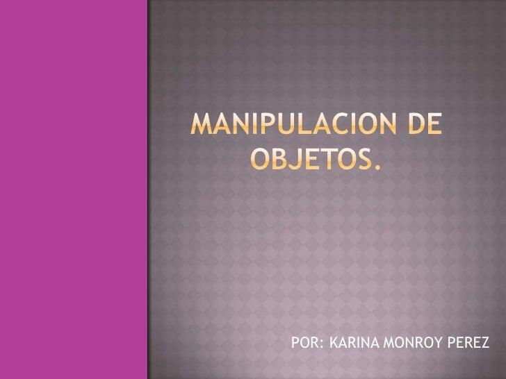 POR: KARINA MONROY PEREZ