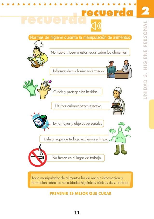 Manipulador de alimentos - Higiene alimentaria y manipulacion de alimentos ...