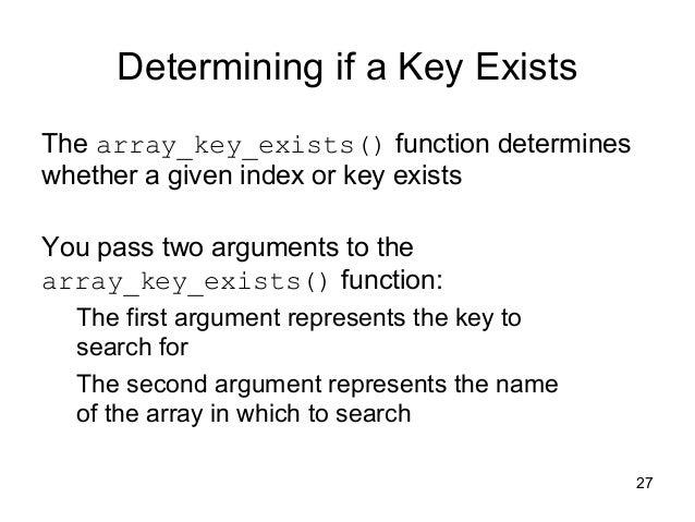 php array_key_exists