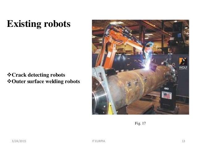 Manipulator robot for crack detection and welding