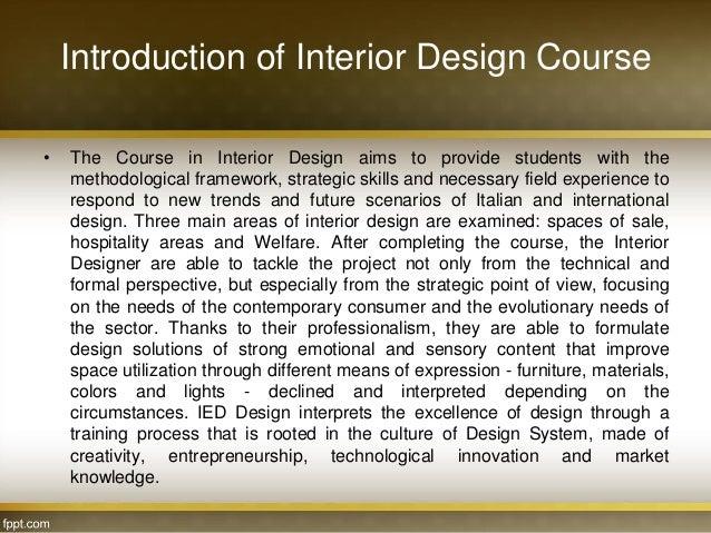 4 Diploma In Interior Designing Details