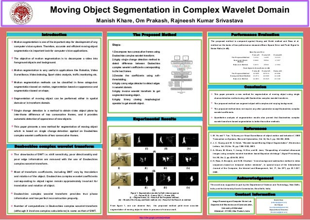 Moving Object Segmentation in Complex Wavelet Domain                                                                      ...