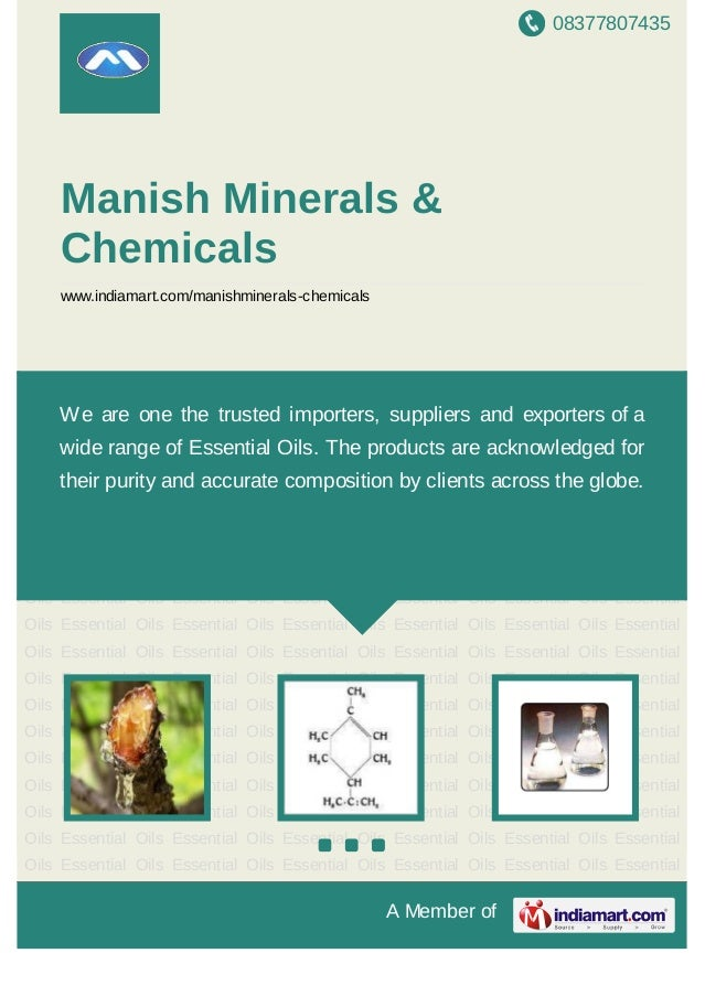 08377807435A Member ofManish Minerals &Chemicalswww.indiamart.com/manishminerals-chemicalsEssential Oils Essential Oils Es...