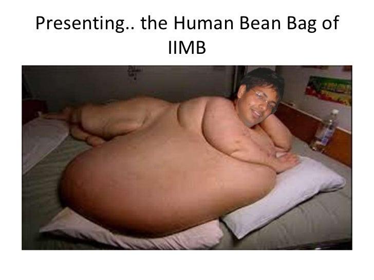 Presenting.. the Human Bean Bag of                IIMB
