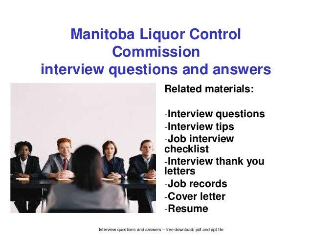 Manitoba liquor control commission interview questions and answers interview questions and answers free download pdf and ppt file manitoba liquor control commission spiritdancerdesigns Images