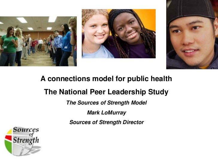 A connections model for public health The National Peer Leadership Study       The Sources of Strength Model              ...