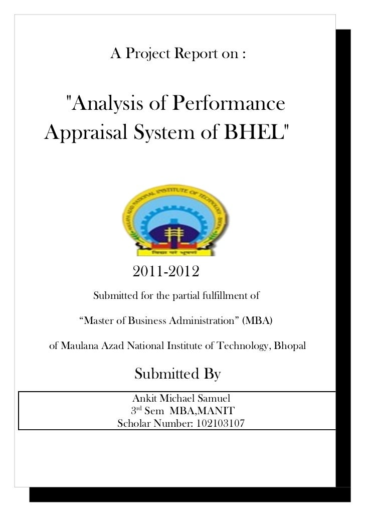Performance Management System of BHEL