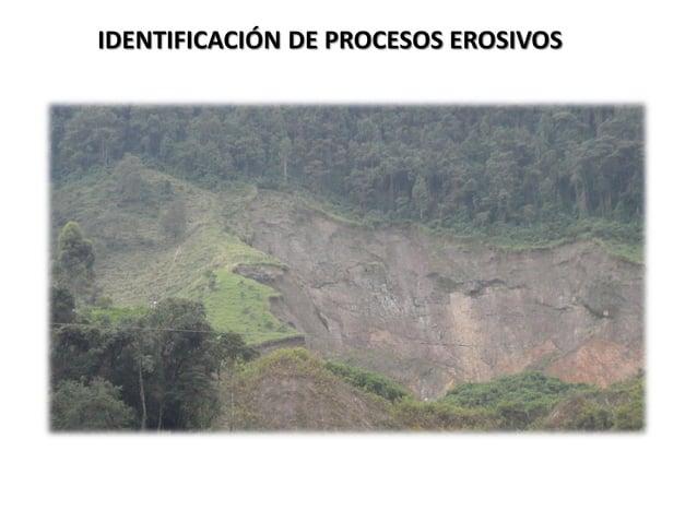 IDENTIFICACIÓN DE PROCESOS EROSIVOS