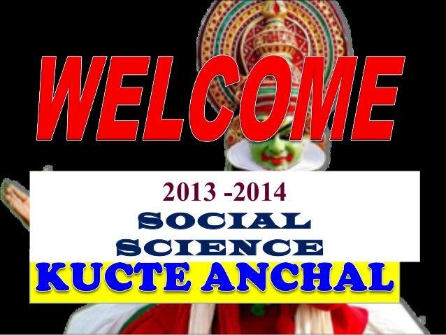 2013 -2014  SOCIAL  SCIENCE