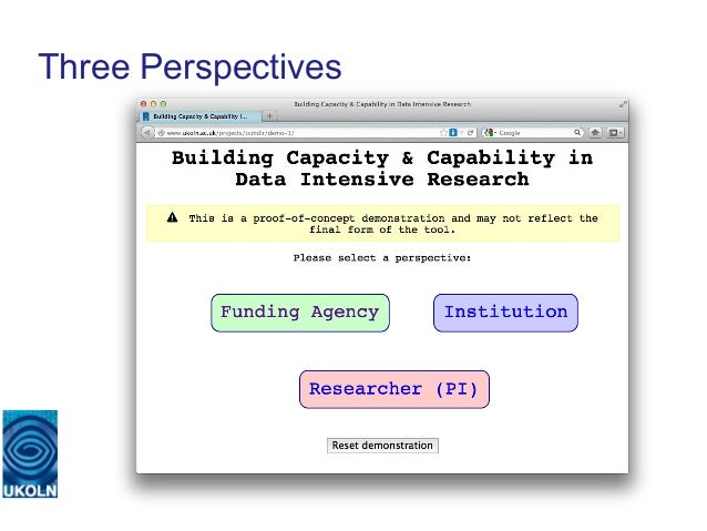 Three Perspectives   A centre of expertise in digital information management