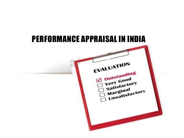 PERFORMANCE APPRAISAL IN INDIA