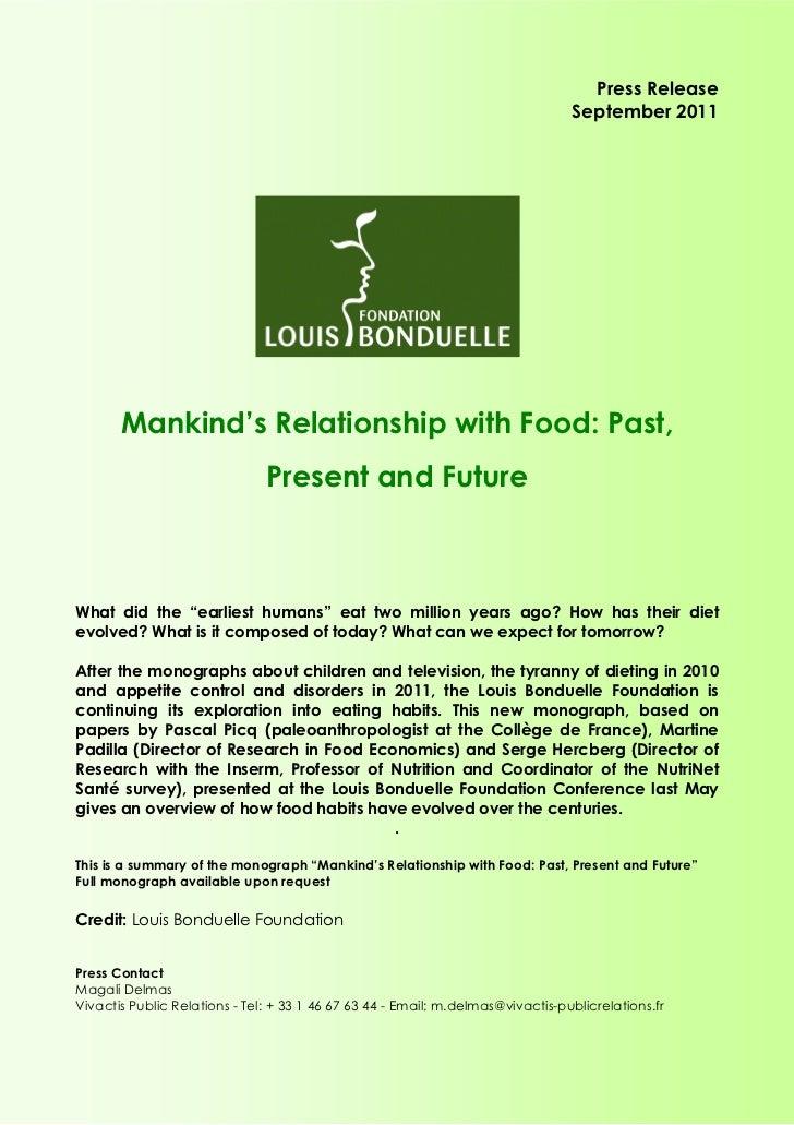 Press Release                                                                                 September 2011       Mankind...