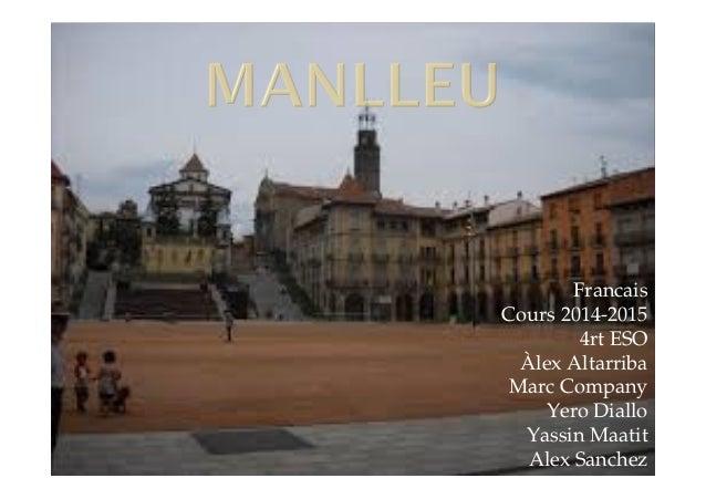 Francais  Cours 2014-2015  4rt ESO  Àlex Altarriba  Marc Company  Yero Diallo  Yassin Maatit  Alex Sanchez