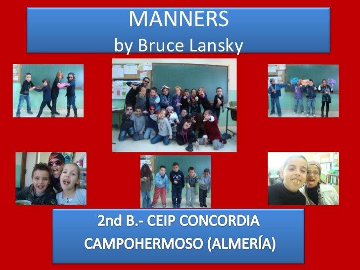 MANNERSby Bruce Lansky