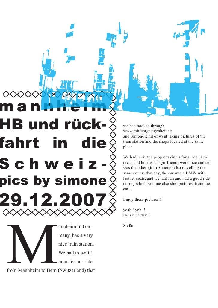 annheim  B und rück-                                 we had booked through                                              ww...