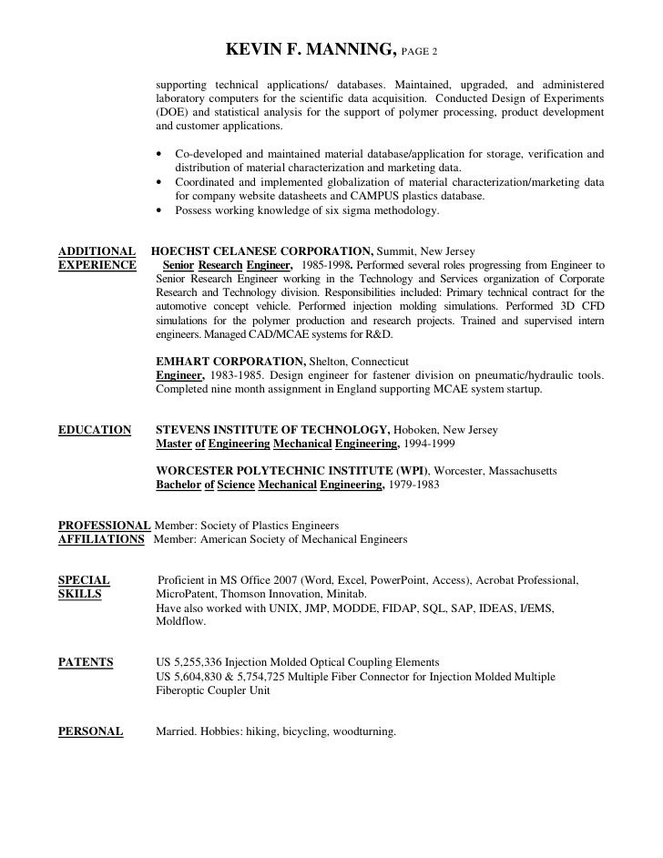 Perfect Thomson Engineering Resume Frieze - Administrative Officer ...