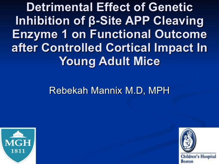 Detrimental Effect of Genetic Inhibition of β-Site APP Cleaving Enzyme 1 on Functional Outcome after Controlled Cortical I...