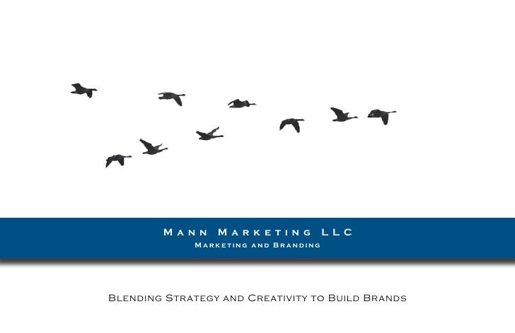 M a n n   M a r k e t i n g   L LC              Marketing and Branding     Blending Strategy and Creativity to Build Brands