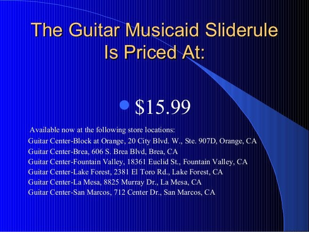 The Guitar Musicaid SlideruleThe Guitar Musicaid Sliderule Is Priced At:Is Priced At: $15.99 Available now at the followi...