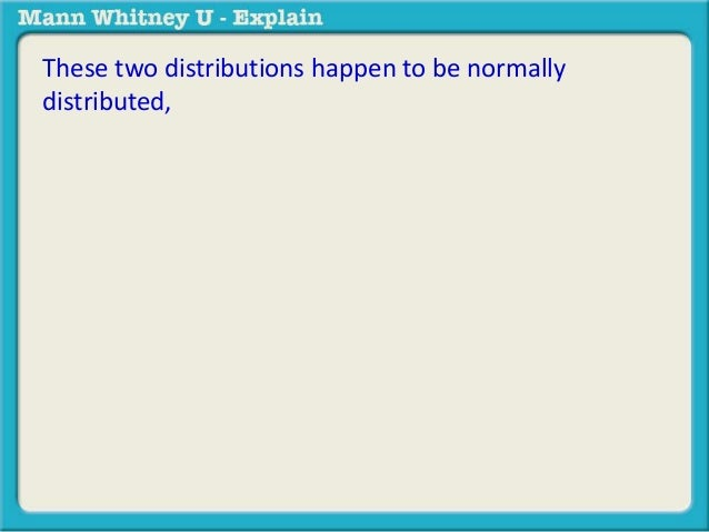 These two distributions happen to be normally  distributed,