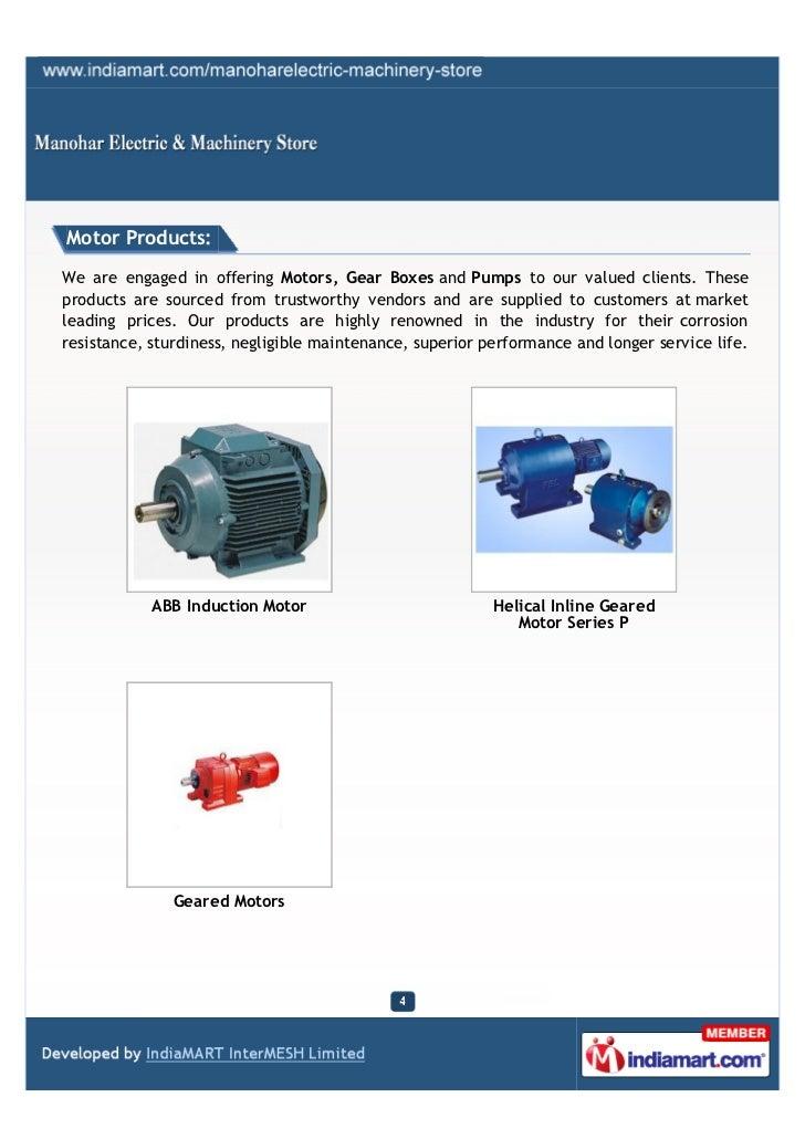 Abb Electric Motors Distributors