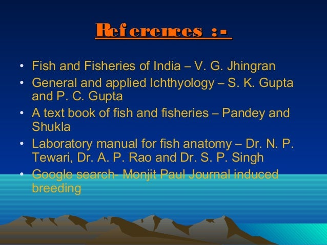 general and applied ichthyology pdf