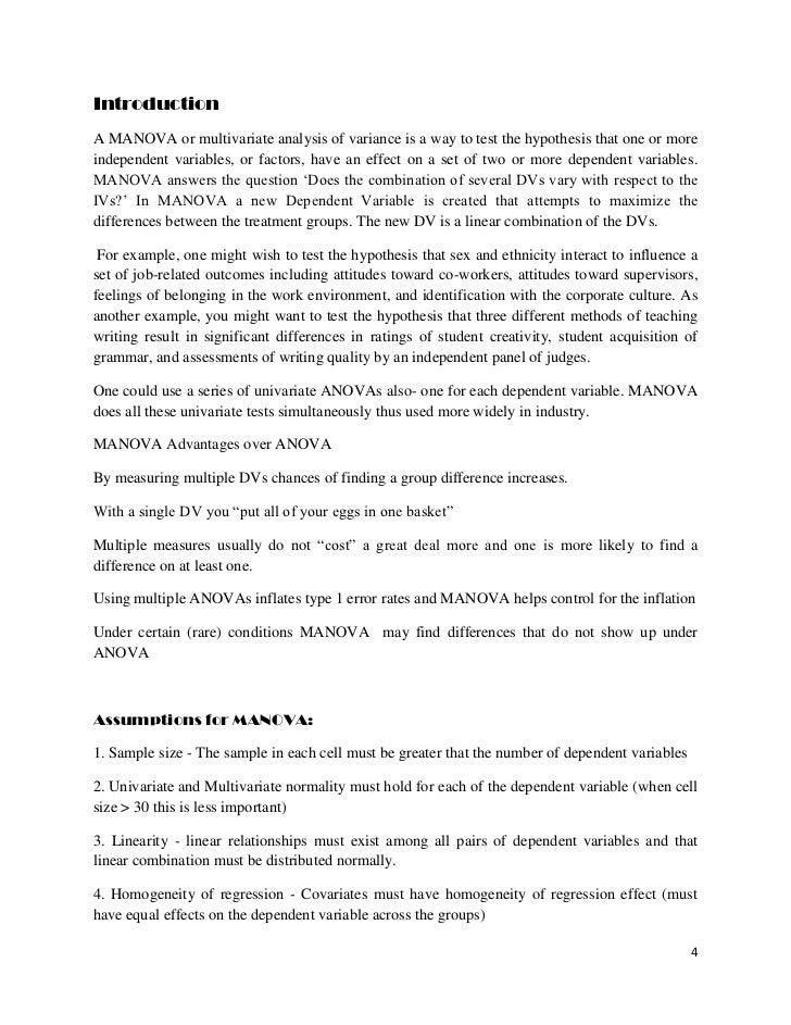Manova Report