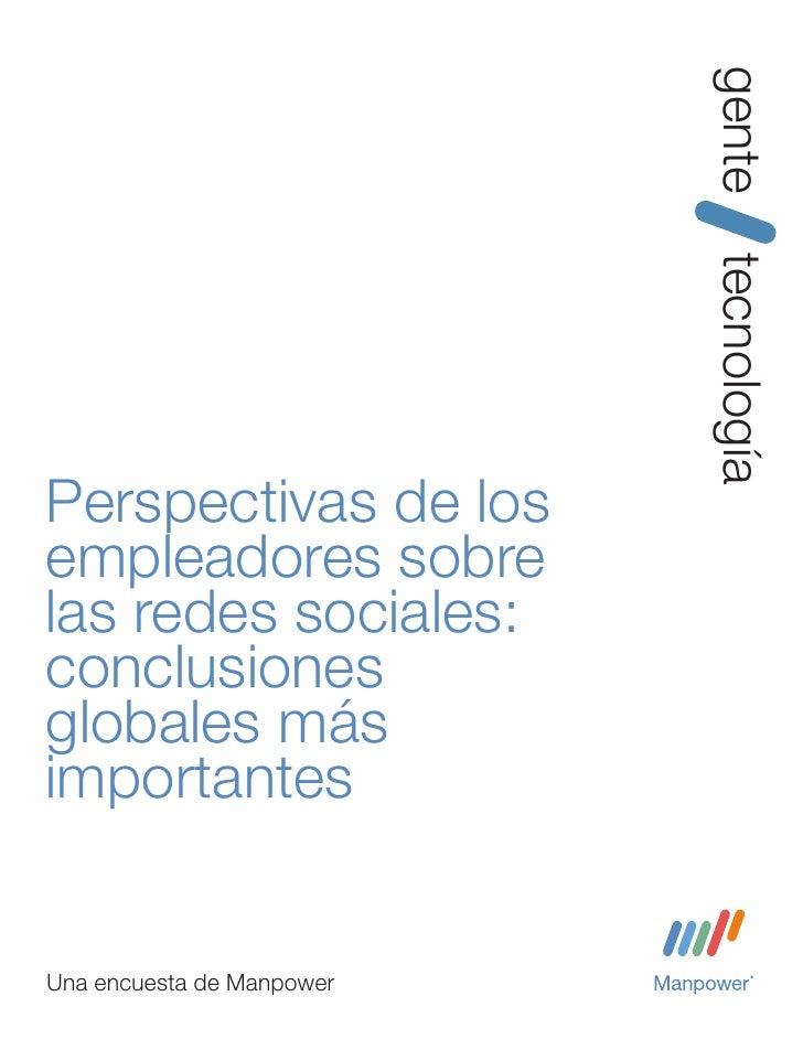 Manpower   redes sociales vs management - conclusiones globales