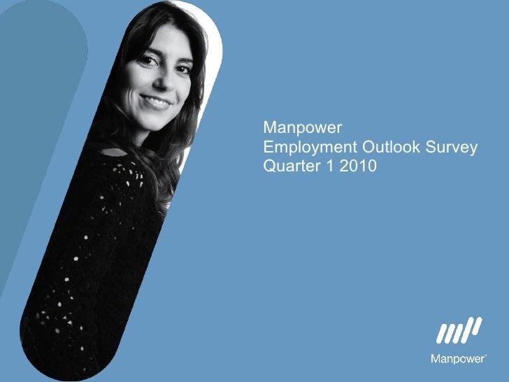 Manpower  Employment Outlook Survey Quarter 1 2010