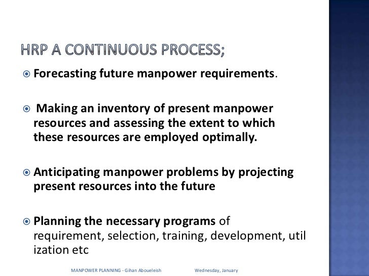 manpower inventory Manpower planning, hr planning training course course duration is one day- authorstream presentation.