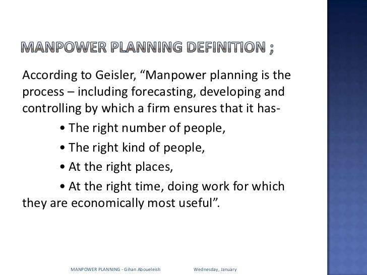 Man power planning  Slide 3