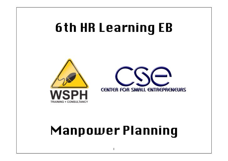 6th HR Learning EBManpower Planning        1