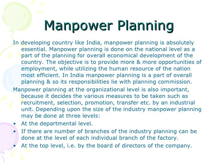 research thesis on manpower planning Manpower capacity planning strategies becomes one of the major concerns of the semiconductor companies this master thesis is as study of manpower capacity planning in the semiconductor industry.