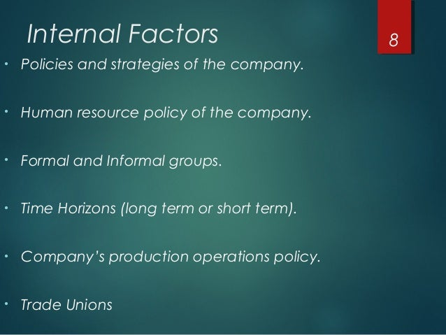 internal factors for hr planning essay In this report we will be discussing two of the external factors and two of the internal factors of diversity and ethics of the food giant chain mcdonald's restaurant we will also address the four functions of management planning, organizing, leading, and controlling and the role each plays in mcdonald's organization.