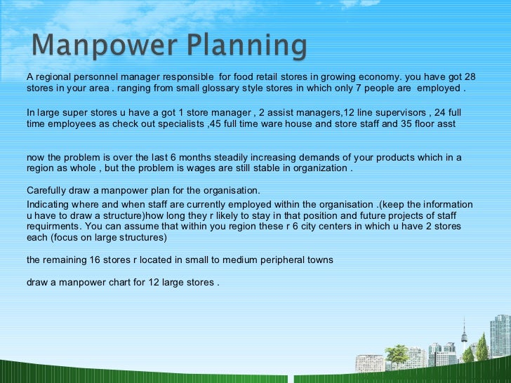manpower planning An informal short-term investigation of manpower fore casting (at a national level) in professions and fields other than information science was undertaken for the british library r&d department (blrdd.