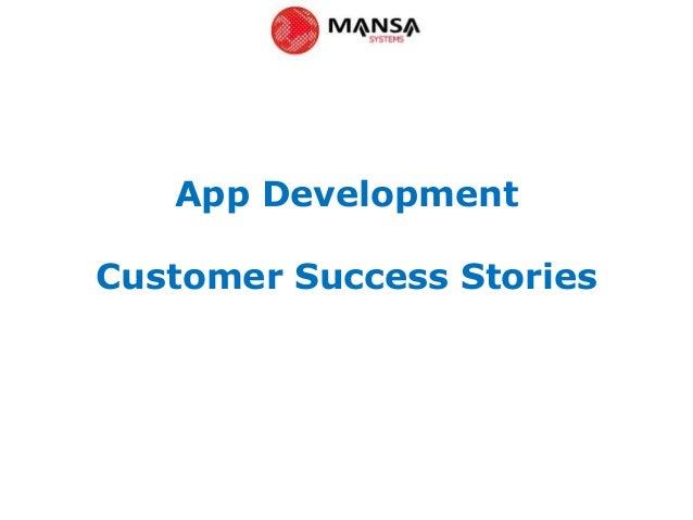 App DevelopmentCustomer Success Stories