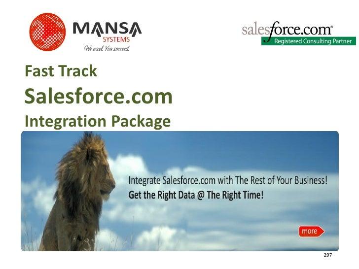 Fast Track Salesforce.com Integration Package                           297